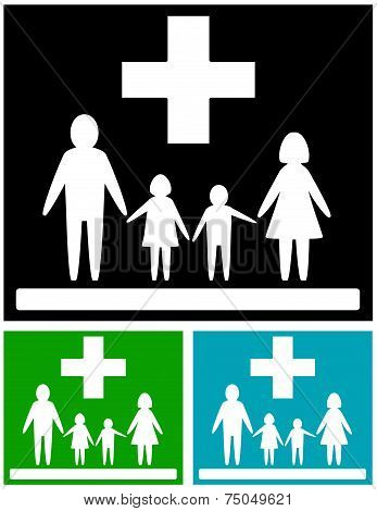 Set Family Medical Icons