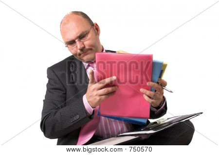 Checking His Files