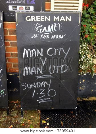 Manchester United versus Manchester City