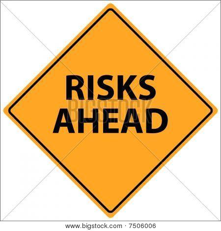 Risks Ahead Vector