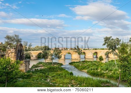 Ancient Water Mill And Roman Bridge
