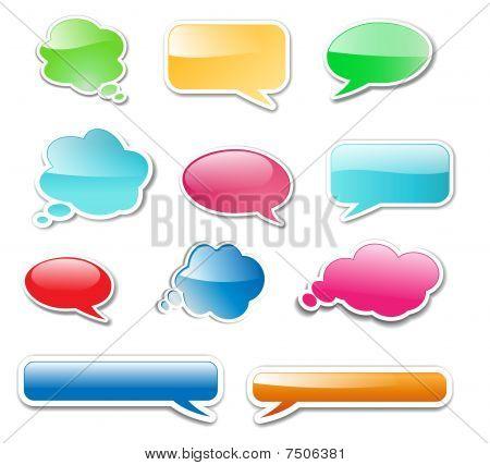 Messenger windows glossy web elements