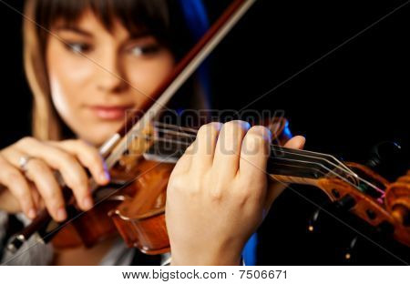 Blurred Female Violinist