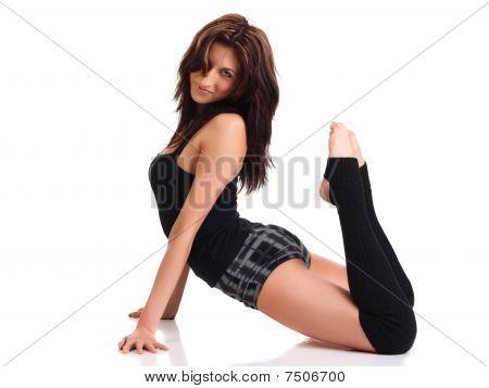 Girl Doing Aerobics Exercise