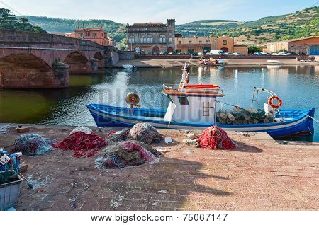Fishing Boat And Nets