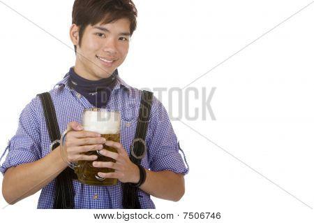 Man Holding Oktoberfest Beer Stein (mass) In Hands