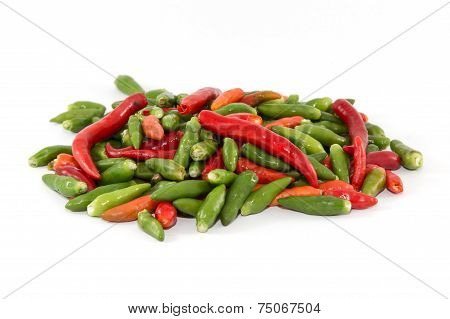 Multiple color chilies