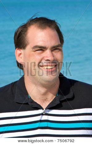 Average Dark Haired Man Smiling