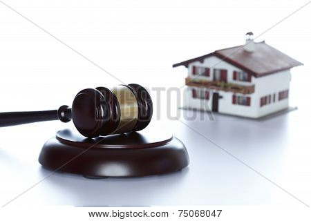 Gavel With House In Background