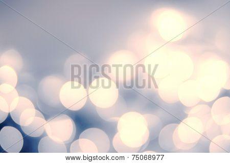 Vintage Christmas Background With Bokeh Lights. Defocused Bokeh Twinkling Lights Festive Holiday Par