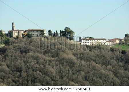 Habitation On The Crest Of A Wooded Hill In Springtime, Salita Dello Scorlazzone, San Vigilio, Begam