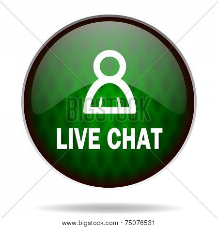live chat green internet icon