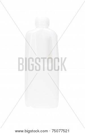 White Plastic Milk Gallon With Handle