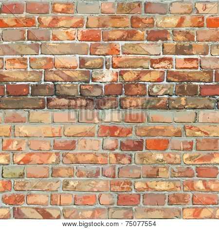 Red BrickWall Seamless Texture