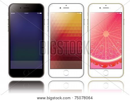 Mockup Of Two Smartphones For Presentations And Web Design