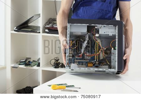 Hardware Expert Holding Computer