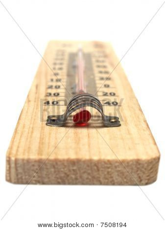 Thermometer on white