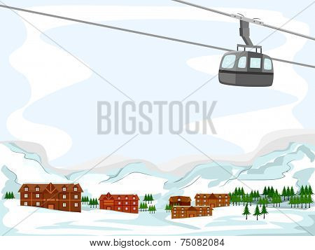 Background Illustration Featuring a Ski Lodge