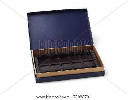 Empty Chocolate Box On White Background