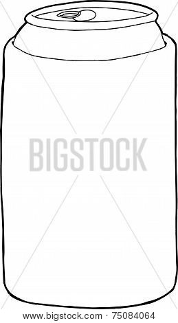 Outlined Beer Sleeve