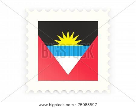 Postage Stamp Icon Of Antigua And Barbuda