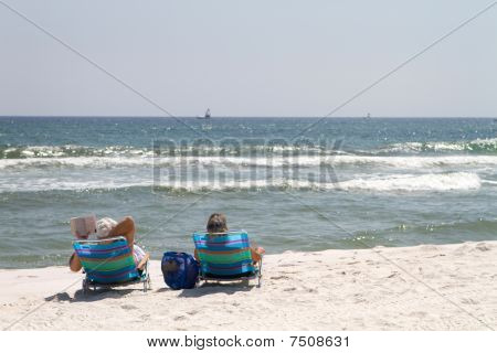 Relaxing At The Beach