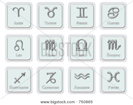 Zodiac signs - icons