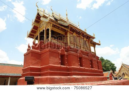 Pagoda Model In North Of Thailand