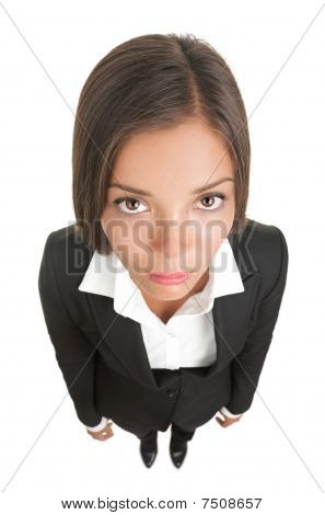 Bored Sad Businesswoman Isolated