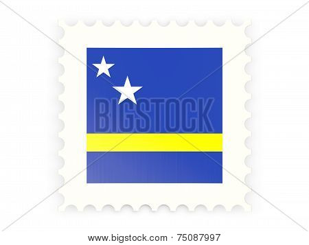 Postage Stamp Icon Of Curacao
