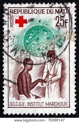Postage Stamp Mali 1965 Examination Of Patient