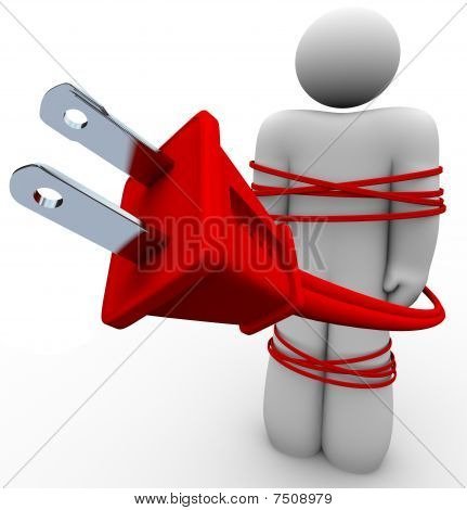 Electric Addiction - Cord Tied Around Person
