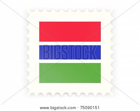 Postage Stamp Icon Of Gambia