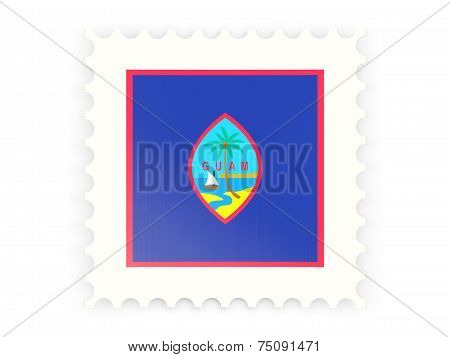 Postage Stamp Icon Of Guam