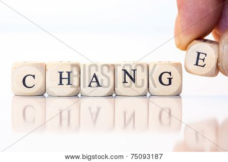 Change, Spelled With Dice Letters