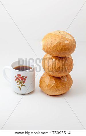Hard Roll And Coffee