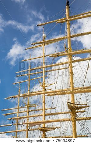 Four Masts And Rigging