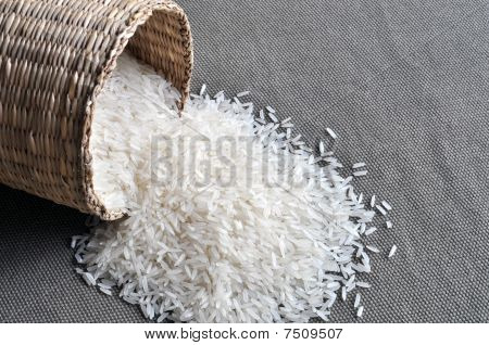 Small basket of rice