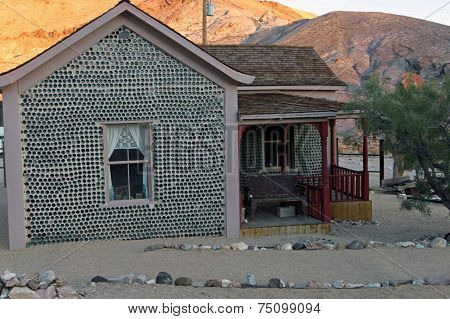 Bottle House in Rhyolite Ghost Town Nevada