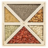 image of flax seed  - square and triangles  - JPG