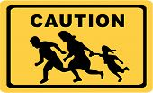 stock photo of deportation  - The Famous Running Family  - JPG