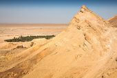 picture of tozeur  - Mountain oasis Tamerza in Tunisia near the border with Algeria.