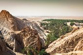 picture of tozeur  - Mountain oasis Chebika at border of Sahara Tunisia Africa - JPG