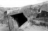 stock photo of ww2  - Germany bunker WW2 Utah Beach is one of the five Landing beaches in the Normandy landings on 6 June 1944 during World War II - JPG