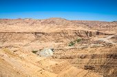 picture of tozeur  - Famous Mountain oasis Chebika in Tunisia Northern Africa - JPG