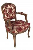 stock photo of old-fashioned  - italian vintage armchair isolated on white background - JPG