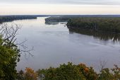 Постер, плакат: Mississippi River at Hannibal Missouri