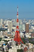 pic of minato  - Tokyo Tower and Tokyo city view building at daytime - JPG