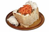 Durban Traditional Mutton Bunny Chow With Carrot Sambal poster