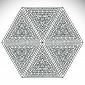 stock photo of ottoman  - Mandala - JPG